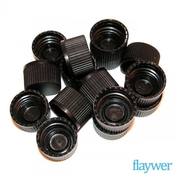 15x Deckel (schwarz, GL18) - B-Ware